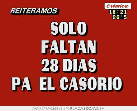 Solo Faltan Dias Solo Faltan 28 Dias Pa´el
