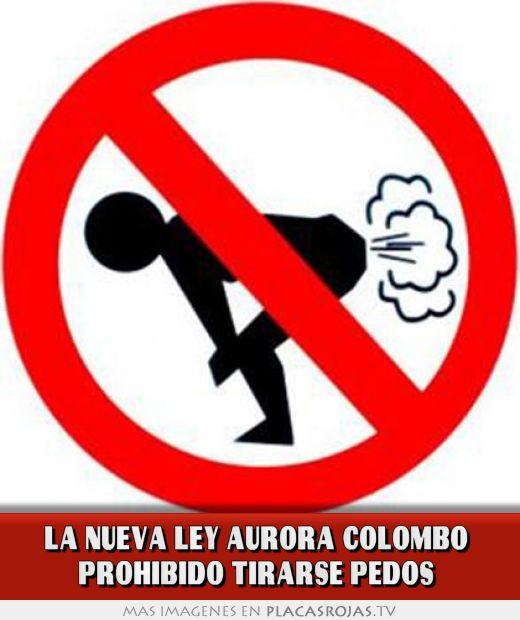 La nueva ley aurora colombo PROHIBIDO tirarse pedos - Placas Rojas TV