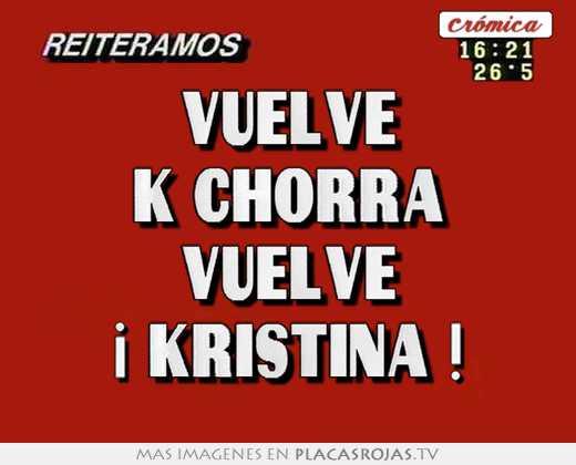 Resultado de imagen para Kristina la k-chorra