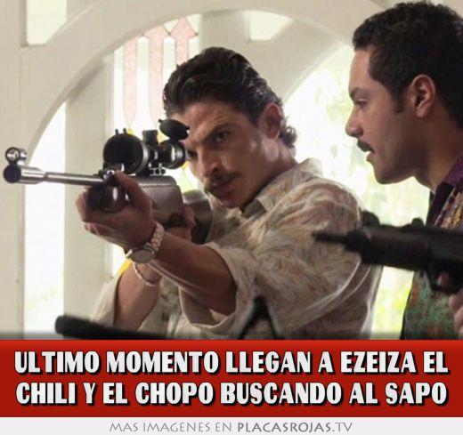 John Jairo Arias  >> ULTIMO MOMENTO LLEGAN A EZEIZA EL CHILI Y EL CHOPO BUSCANDO AL SAPo - Placas Rojas TV