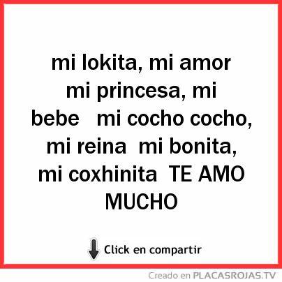 Mi Lokita Mi Amor Mi Princesa Mi Bebe Mi Cocho Cocho Mi Reina Mi