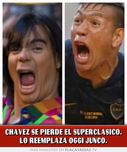 Chavez se pierde el superclasico. lo reemplaza oggi junco.