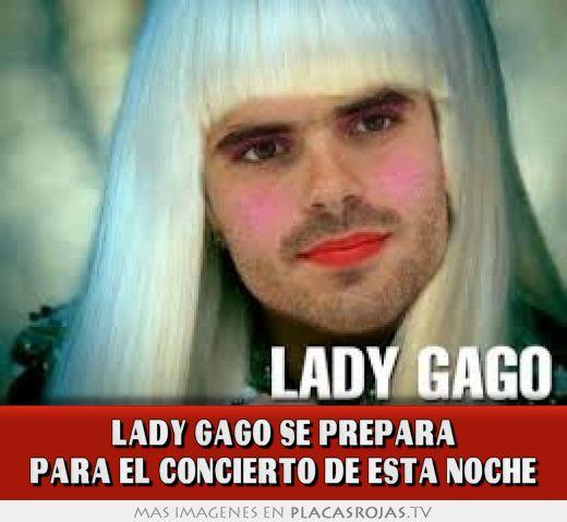 Lady gago se prepara para el concierto de esta noche