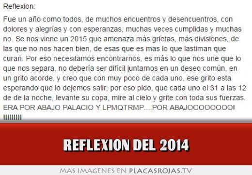 Reflexion del 2014
