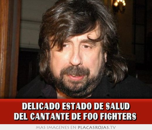 Delicado estado de salud del cantante de foo fighters