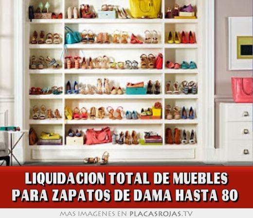 Liquidacion total de muebles para zapatos de dama hasta 80 for Muebles para colocar zapatos