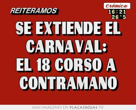 Se extiende el carnaval:  el 18 corso a  contramano