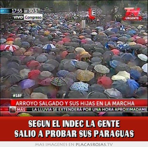 Segun el indec la gente salio a probar sus paraguas