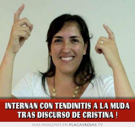 Internan con tendinitis a la muda tras discurso de cristina !