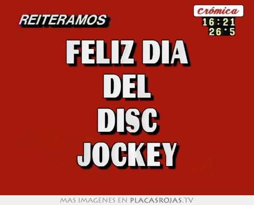 Feliz dia del disc jockey