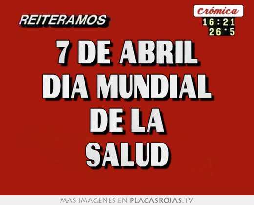 7 de abril día mundial de la salud
