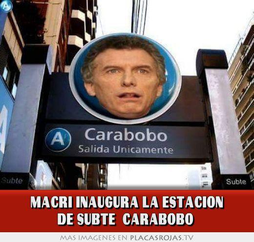 Macri inaugura la estacion de subte