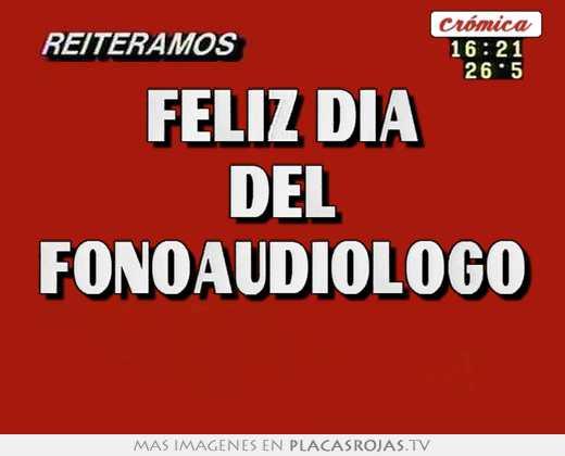 Feliz dia del fonoaudiologo