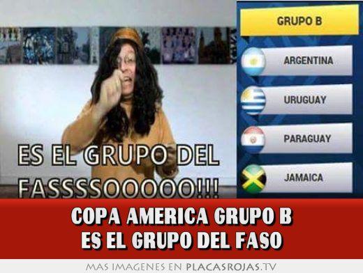 Copa america grupo b es el grupo del faso