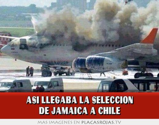 Asi llegaba la seleccion de jamaica a chile