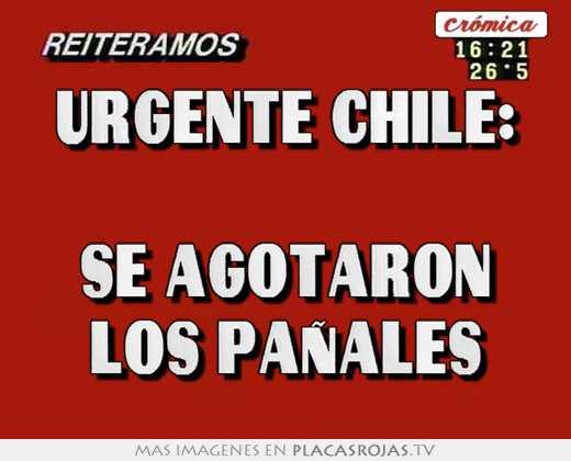 Urgente chile:  se agotaron los paÑales