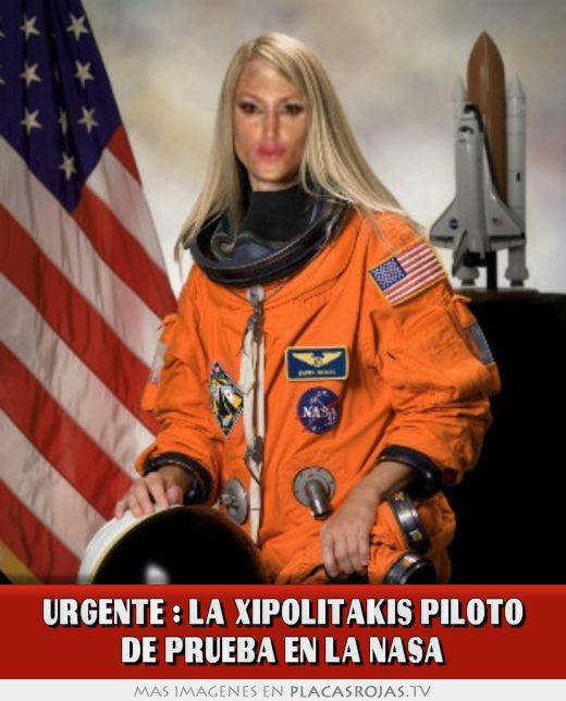 Urgente : la xipolitakis piloto de prueba en la nasa