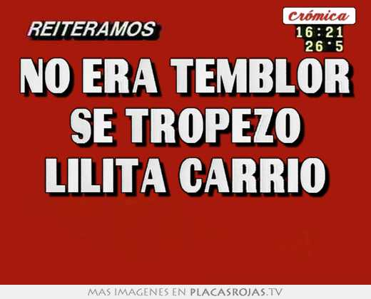 No era temblor se tropezo lilita carrio
