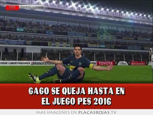 Gago se queja hasta en el juego pes 2016