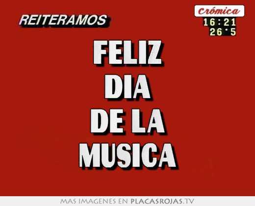Feliz dia de la musica