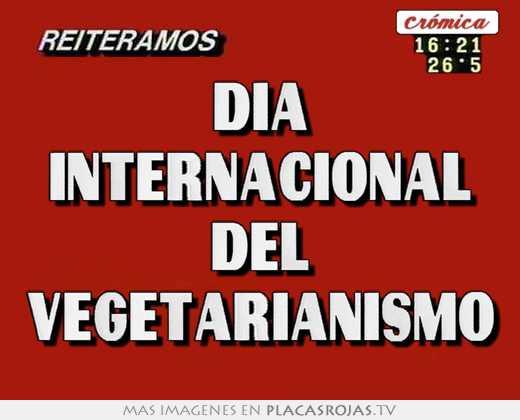 Dia internacional del vegetarianismo