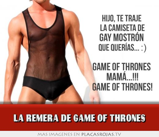 La remera de game of thrones