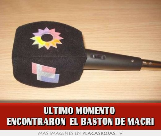 Ultimo momento  encontraron  el baston de macri