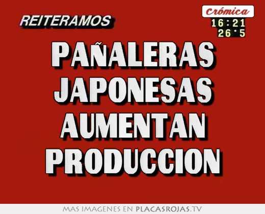 PaÑaleras japonesas aumentan produccion