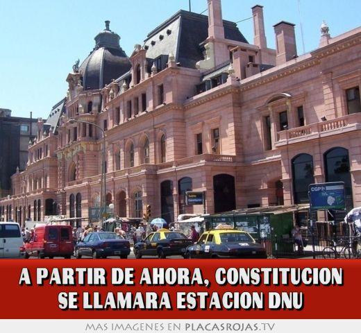 A partir de ahora, constitucion se llamara estacion dnu