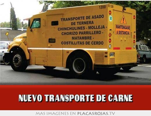 Nuevo transporte de carne