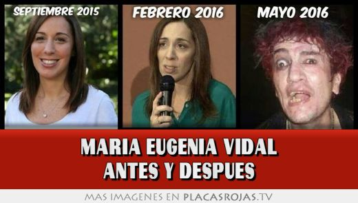 Maria eugenia vidal antes y despues