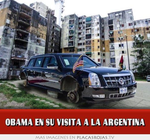 Obama en su visita a la argentina