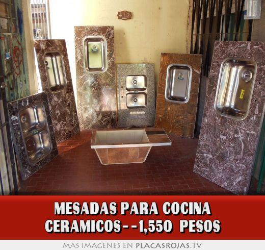MESADAS PARA COCINA ceramicos--1,550 PESOS - Placas Rojas TV