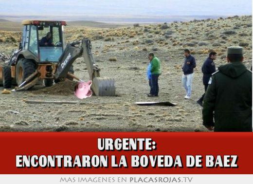 Urgente: encontraron la boveda de baez