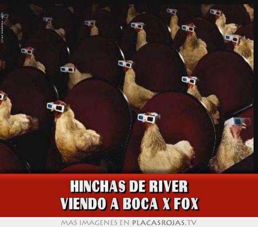Hinchas de river viendo a boca x fox