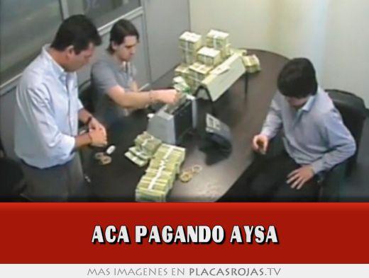 Aca pagando aysa