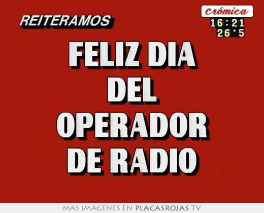 Feliz dia del operador de radio