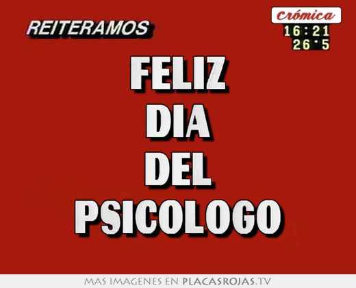 Feliz día del psicologo