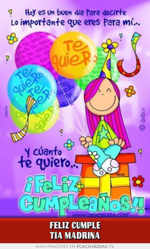 Feliz Cumple tia madrina - Placas Rojas TV