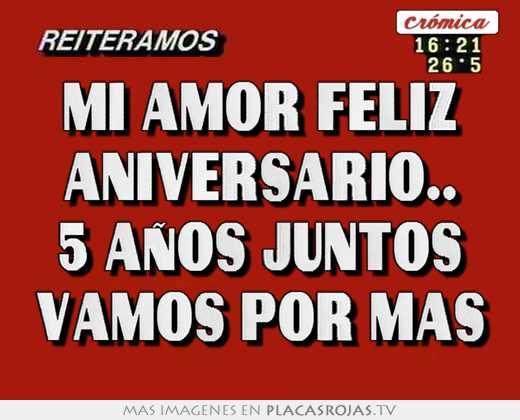 Amor Feliz Aniversario