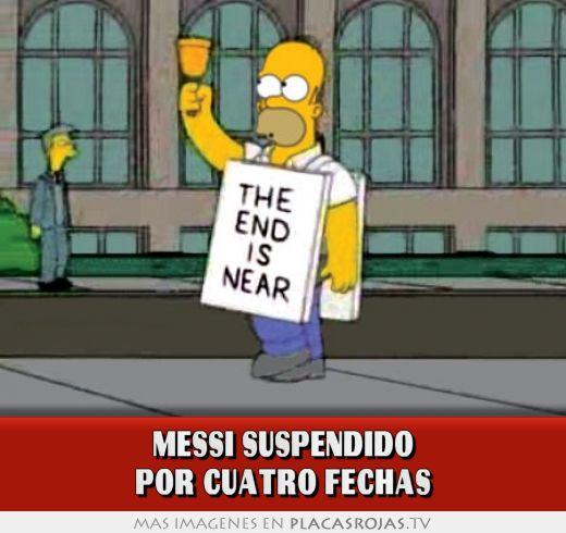 Messi suspendido por cuatro fechas