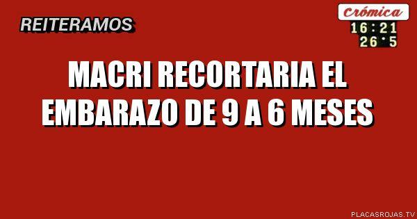 Macri recortaria el embarazo de 9 a 6 meses