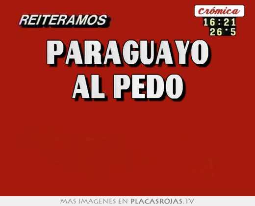 Paraguayo al pedo