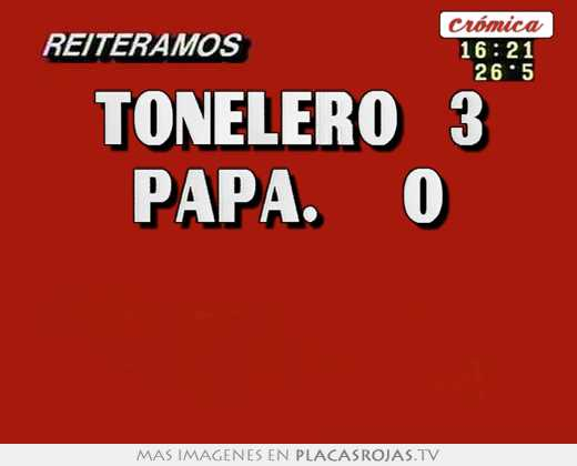 Tonelero   3 papa.     0