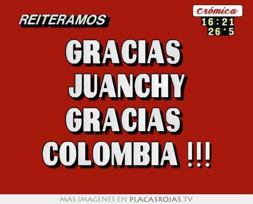 Gracias  juanchy gracias  colombia !!!