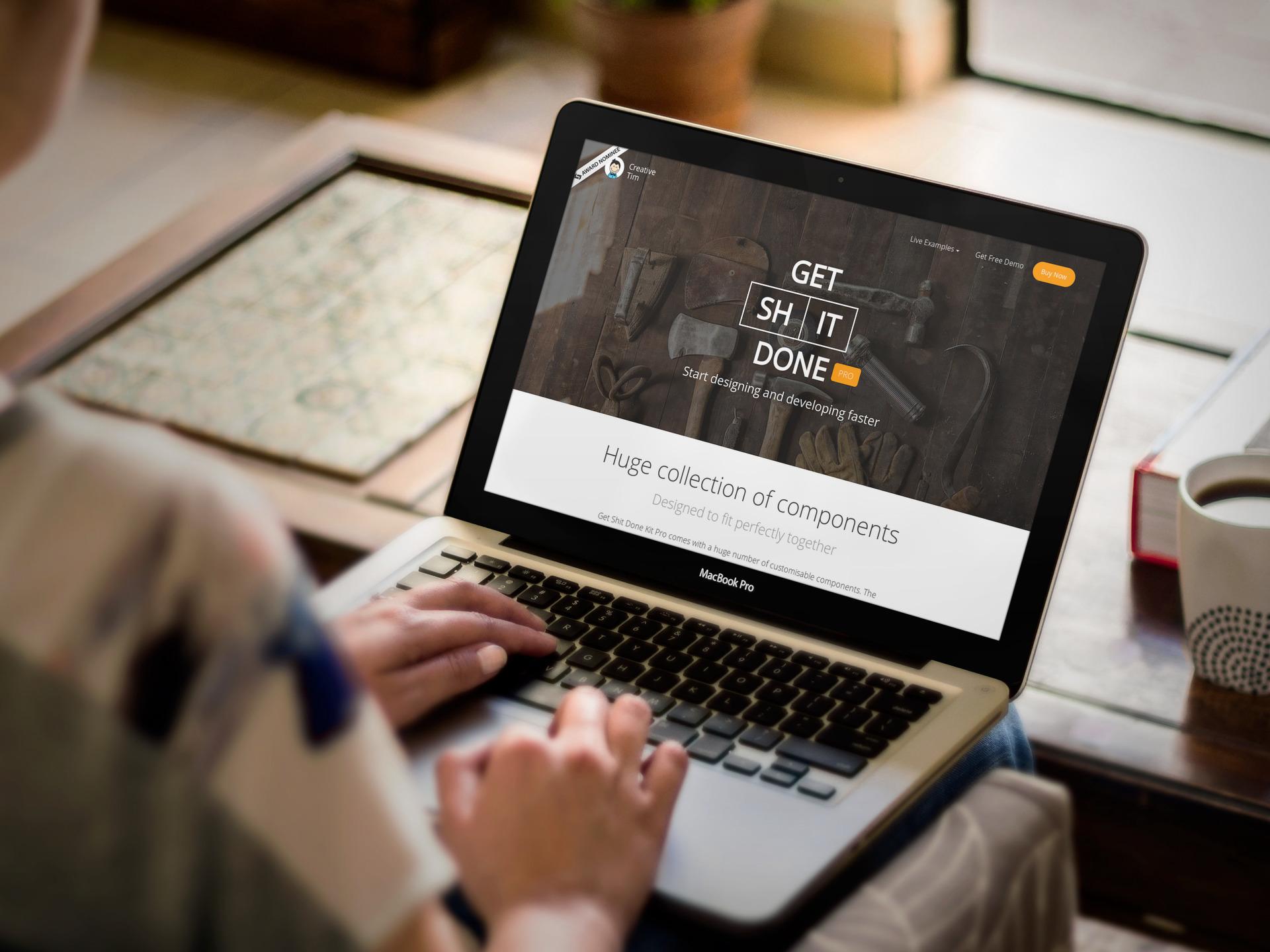macbook mockups to promote your website or web app