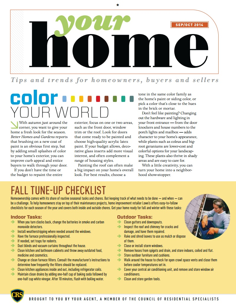 Fall Home Tune-up Checklist for Homeowners - The Arnold Group