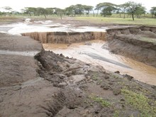 Result of 32 mm of rainfall event over a ~45 min period on Feb 2, 2013