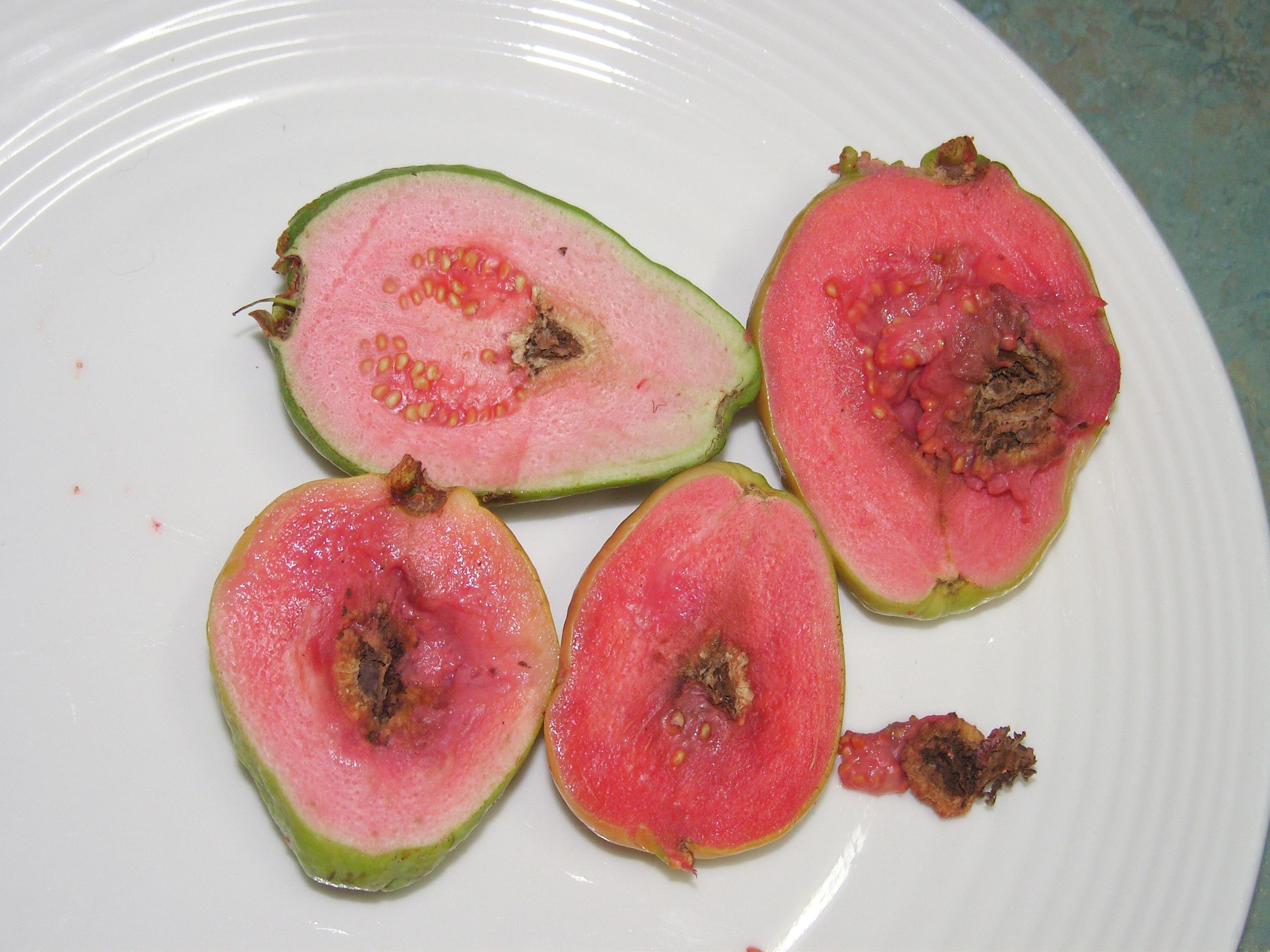 guava halves with problem