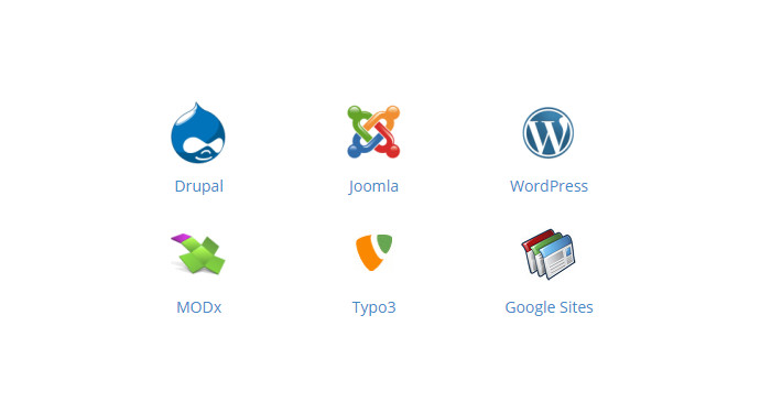 Special extensions and modules for <a href='http://www.planyo.com/drupal-reservation-system/'>Drupal.org</a>, <a href='http://www.planyo.com/joomla-reservation-system/'>Joomla!</a>, <a href='http://www.planyo.com/wordpress-reservation-system/'>WordPress</a>, <a href='http://www.planyo.com/modx-reservation-system/'>MODx</a> and <a href='http://www.planyo.com/typo3-reservation-system/'>Typo3</a>